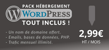 pack hébergement WordPress
